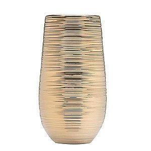 Vaso de Cerâmica Dourado - 16x38 cm