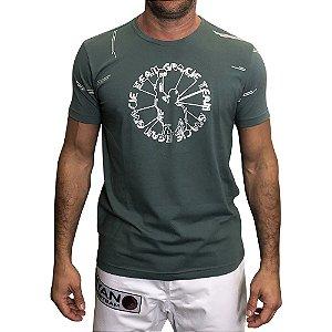 Camiseta Gracie Cyber Verde com prata