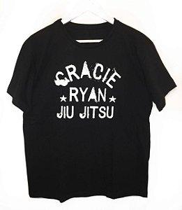 Camiseta Preta Ryan Gracie Jiu Jitsu