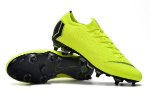 Chuteira Nike Campo Trava Mista Mercurial Vapor XII Verde Limão 96ecf4db25cba