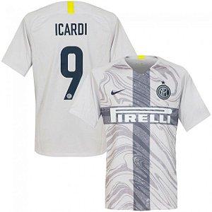 7ddfef0d05 Camisa III Inter de Milão ICARD Nº9 Torcedor 18 19 Nike