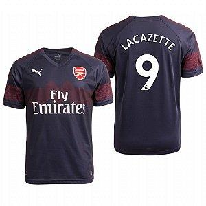 d6ce2bca00 Camisa II Arsenal Nº9 Lacazette 18 19 Puma Torcedor