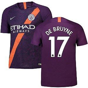 frete grátis 60% Desconto. Camisa III Manchester City 18 19 De Bruyne Nº17  Nike 2f4aaac0c3106
