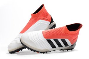b19c419f23 Chuteira Society Adidas Cano Alto Predator Tango 18+ Branca Vermelha e Preta