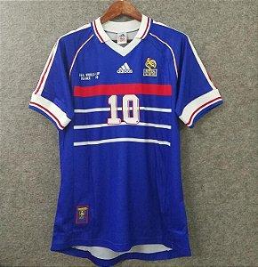 44e245fc0 Camisa da França Seleção Francesa 1998 Zidane Nº 5 Adidas