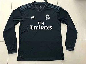 8a6a42950 Camisa II Real Madrid Manga Longa 18 19 S Nº Adidas