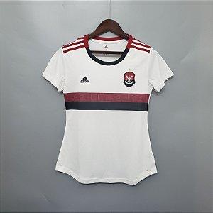 84cbb190a8 Camisa do Flamengo Feminina 2019 - 20 Branca Adidas