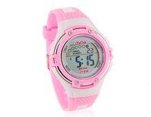 Relógio Feminino Digital Pulseira Plástico Rosa