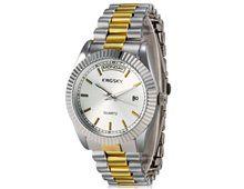 Relógio Feminino Kingsky 8851 Prata e Dourado Quartz