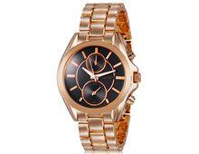 Relógio Feminino Kingsky 8857 Ouro Rose Fundo Preto