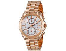 Relógio Feminino Kingsky 8857 Ouro Rose Fundo Branco