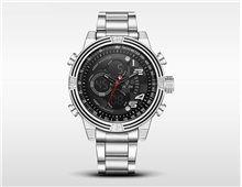 Relógio Masculino Weide WH5209 Quartz Preto Esportivo Pulseira Prata