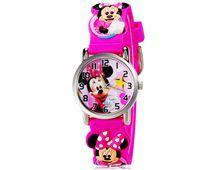 Relógio Infantil 255 Minie Rosa Pulseira Borracha