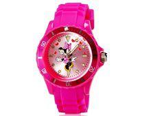 Relógio Infantil 5087G Minnie Alça Plástico Rosa