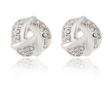 Brincos Cristal Rigant Espiral com Mini Diamantes