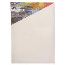 Tela para pintura a óleo e acrílica ACRILEX - 16 cm x 22 cm