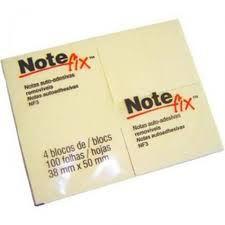 Bloco Post-it Note Fix NF3 c/4 Amarelo 38x50