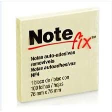 Bloco Post-it note Fix NF4 amarelo 76x76