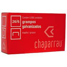Grampo Chaparrau 26/6 CX 5.000 cobreado Unid.