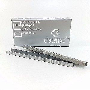 Grampo Chaparrau 26/6 CX 5.000 Galvanizado Unid.