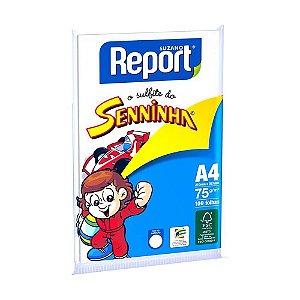Papel sulfite Branco report A4 senninha 75g 210x297mm Unid.
