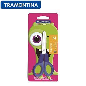 Tesoura Escolar 13cm Monstercort Azul 25931/715 Tramontina