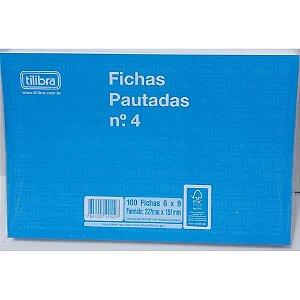 Ficha Pautada 6x9 N.4 Pct/100 Tilibra