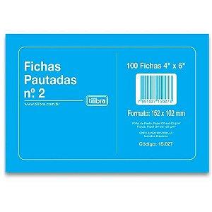 Ficha Pautada 4x6 N.02 com 100 Unidades Tilibra