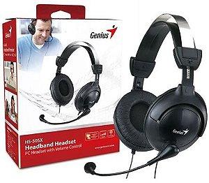 Fone Headset Genius HS-M505X com Arco Ajustavel e Microfone