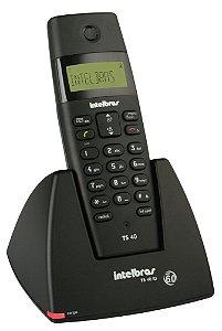 Telefone sem Fio Intelbras, TS 40 ID Preto Bivolt