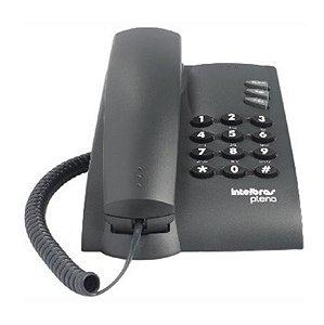 Telefone de Mesa e Parede com Fio Preto Pleno Intelbras