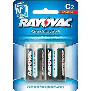 Pilha Alcalina C2 1.5v Blister com 2 Peças Rayovac