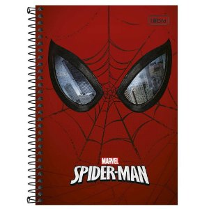 CADERNO ESPIRAL 1/4 CD.96FLS SPIDER MAN