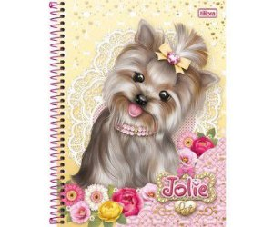 CADERNO UNIV.CD 1X1 JOLIE PET 96FLS