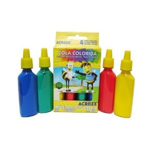Cola Colorida C/4 Cores Acrilex