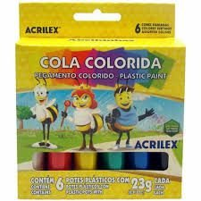 Cola Colorida C/6 Cores Acrilex