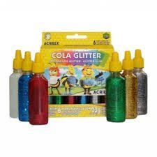 Cola Glitter Acrilex Escolar 6 Cores