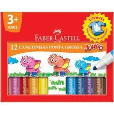 HIDROGRAFICA 12 CORES JUMBO FABER CASTELL