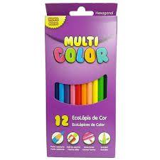 Lapis de Cor 12 Cores Multicolor Super