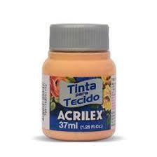 TINTA PESSEGO P/TECIDO ACRILEX  POTE 37ML