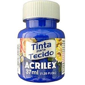 TINTA AZUL ULTRAMAR P/TECIDO ACRILEX  POTE 37ML