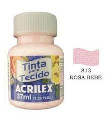 TINTA ROSA BEBE P/TECIDO ACRILEX POTE 37ML