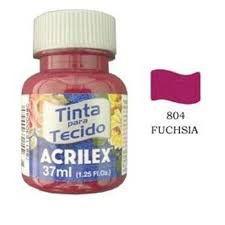 TINTA FUCHSIA P/TECIDO ACRILEX POTE 37ML