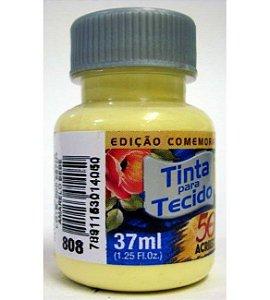 TINTA AMARELO BEBE  P/TECIDO ACRILEX POTE 37ML