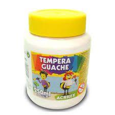 TINTA TEMPERA GUACHE 250 ML ACRILEX BRANCO