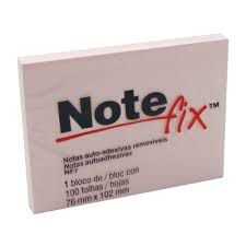 BLOCO POST-IT NOTE FIX NF7 76X102 ROSA