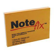 BLOCO POST-IT NOTE FIX NF7 76X102 LARANJA