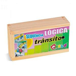BRINQUEDO EDUCATIVO LOGICA TRANSITO - MDF - CARLU