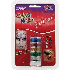 Pintura Facial Cremosa Gliter 6 cores