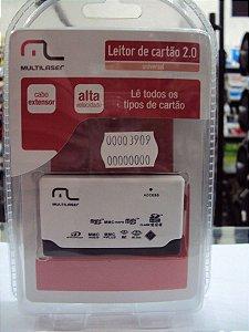 LEITOR DE CARTAO DE MEMORIA AC076 MULTILASER